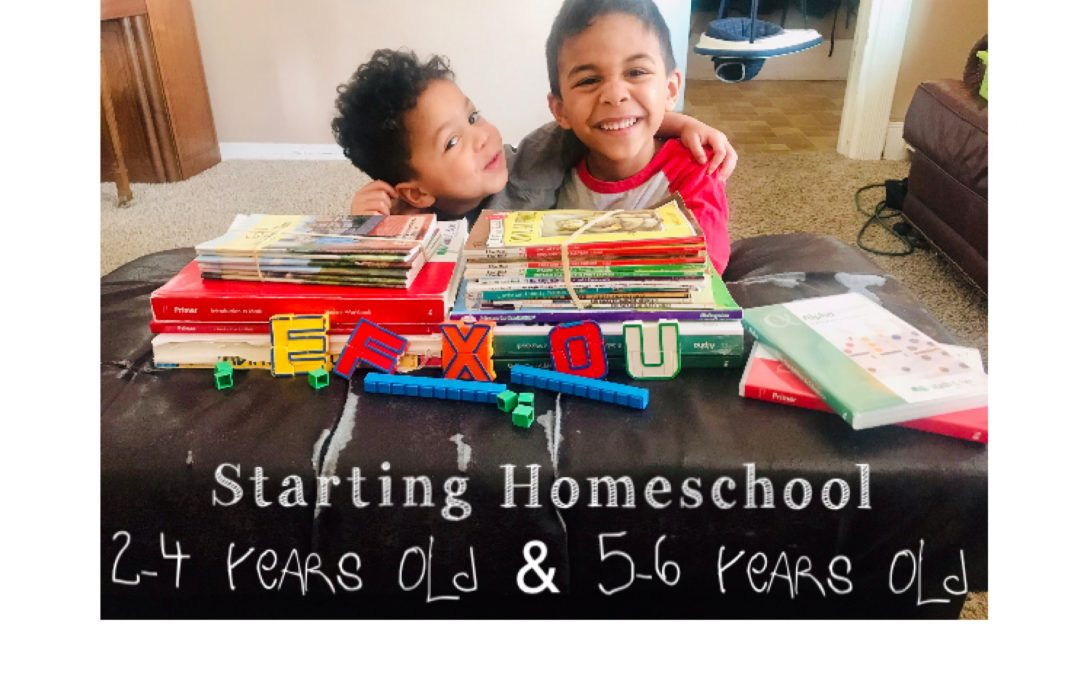 Starting Homeschool 2-4 Years Old & 5-6 Years Old