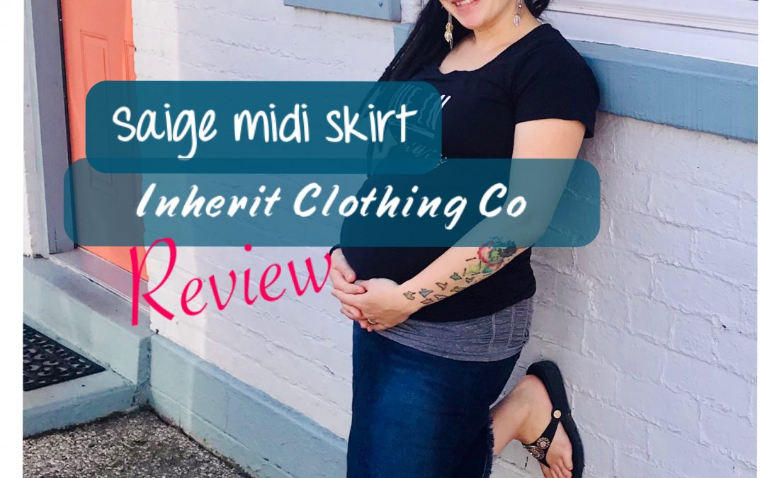 Inherit Clothing Co Review – Saige Midi Maternity Skirt
